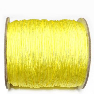 Snur matasos pentru bratari shamballa, galben, grosime 1.5mm 1 m