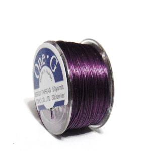Ata pt insirat margele TOHO, violet, 0.2mm, rola 46m 1 buc