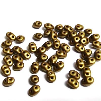 Margele Superduo 2,5x5mm, Metallic Aztec Gold 5 g