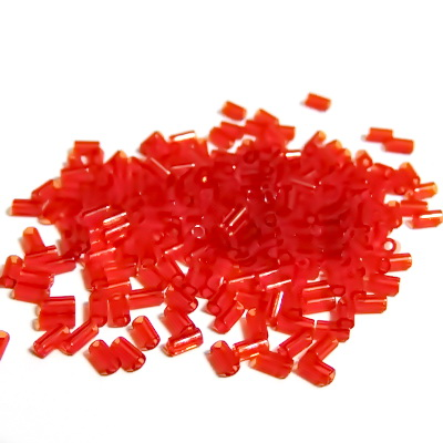 Margele tubulare, TOHO, 3mm, Transparent Siam Ruby 20 g