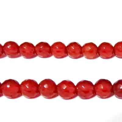 Agata rosie, multifere, 6mm 1 buc