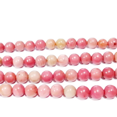 Rodonit roz, sferic, 4.8mm 1 buc