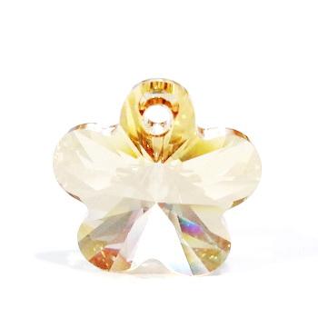 Swarovski Elements, Flower 6744-Crystal Golden Shadow, 12mm 1 buc