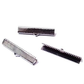 Capat prindere panglica, negru, 35.5x6mm 1 buc