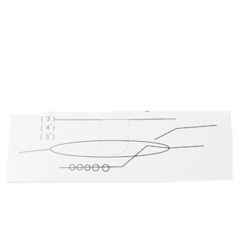Ac flexibil pt.insirat margele, otel inoxidabil, lungime 7.5cm grosime 0.3mm 1 buc
