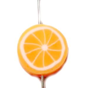 Margele polymer, portocala, 10x10x4mm 1 buc