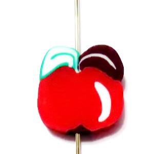 Margele polymer, mar rosu, 10x10x4mm 1 buc