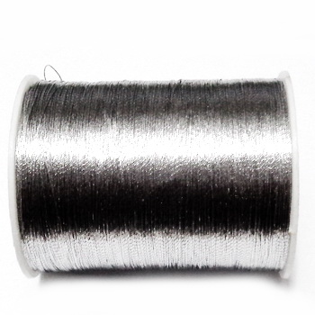 Fir lurex, argintiu, 0.1mm, bobina aproximativ 55m 1 buc
