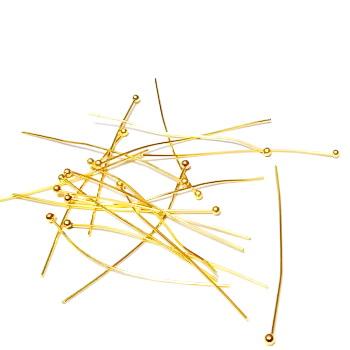 Ace cu bumb, aurii, 35x0.5mm 50 buc