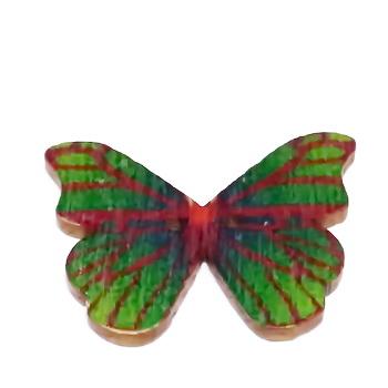 Nasturi lemn, 28x20x3mm, fluturas multicolor, model 1 1 buc