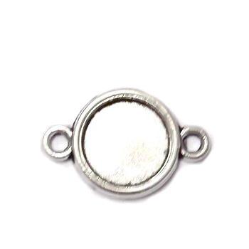 Conector / link cabochon, argint tibetan, 20x13mm, interior: 10mm 1 buc