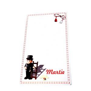 Carton martisor, cu trifoi, 9.2x5.3cm 10 buc