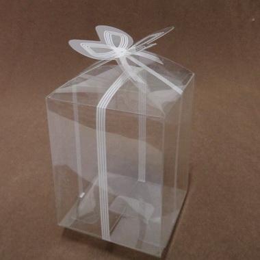 Cutie acetofan transparenta, 7.5x7.5x11cm 1 buc