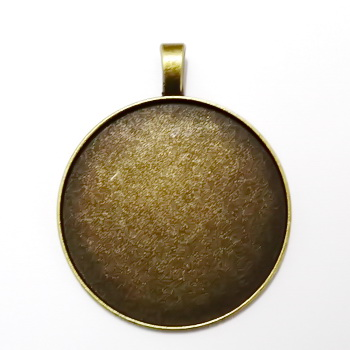 Baza cabochon, bronz, pandantiv 45x37mm, interior 35mm 1 buc