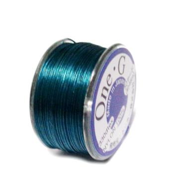 Ata pt insirat margele TOHO, verde-smarald, 0.2mm, rola 46m 1 buc