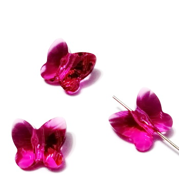 Swarovski Elements, Butterfly 5754-Fuchsia, 10 mm