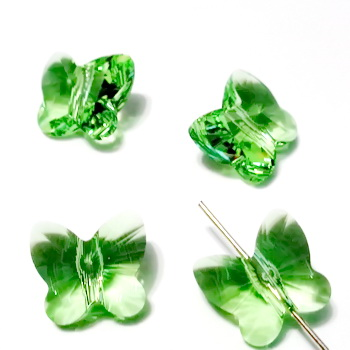 Swarovski Elements, Butterfly 5754-Peridot, 10 mm 1 buc