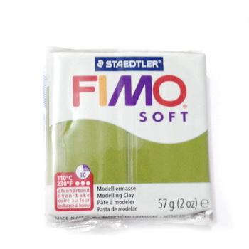 Plastelina fimo soft 56g cod cul. 57 verde olive 1 buc