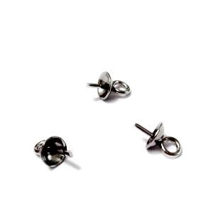 Agatatoare pandantiv/margele semigaurite de 4mm, otel inoxidabil 304 1 buc