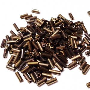Margele tubulare, maro-metalizat, 4-5mm 20 g