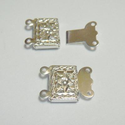 Inchizatoare decorativa placata cu argint 1.45 cm 1 buc