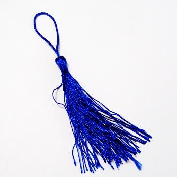 Ciucuri polyester albastru-cobalt, 13x0.6cm 1 buc
