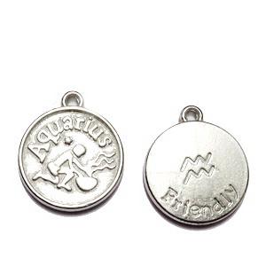 Pandantiv argintiu inchis zodiac, VARSATOR, 20x17x3mm  1 buc