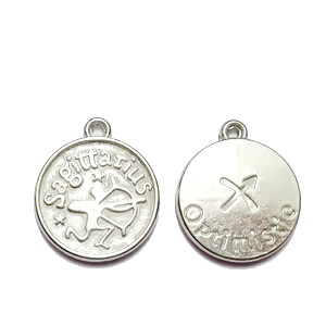 Pandantiv argintiu inchis zodiac, SAGETATOR, 20x17x3mm  1 buc
