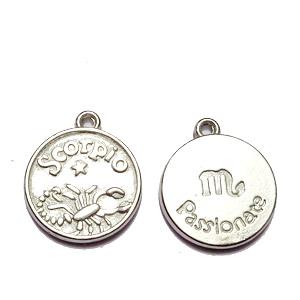 Pandantiv argintiu inchis zodiac, SCORPION, 20x17x3mm   1 buc