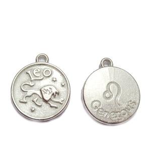 Pandantiv argintiu inchis zodiac, LEU, 20x17x3mm   1 buc
