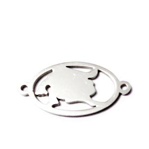 Conector/link otel inoxidabil zodiac, LEU, 24x12mm  1 buc