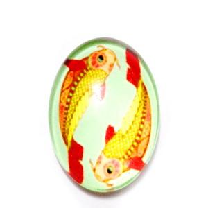 Cabochon sticla zodiac, PESTI, 25x18mm  1 buc