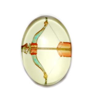 Cabochon sticla zodiac, SAGETATOR, 25x18mm   1 buc