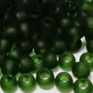 Margele TOHO, rotunde  6/0 : Transparent-Frosted Olivine 20 g