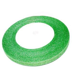Organza verde deschis cu lurex argintiu, 7mm, rola 25 metri 1 buc