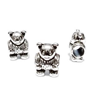 Margele tibetane, stil Pandora, ursulet, 13x9x7mm, orificiu: 5mm 1 buc