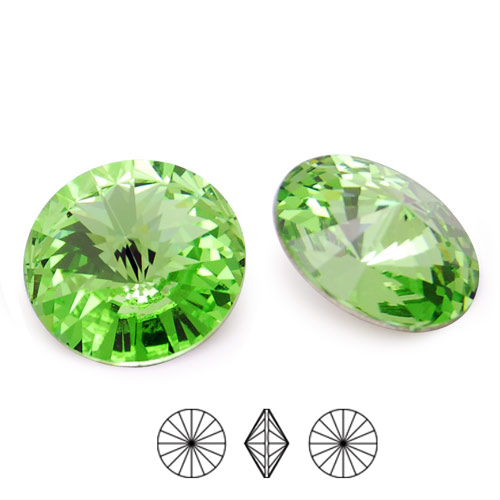 Swarovski Elements, Rivoli 1122 - Peridot, 10mm 1 buc