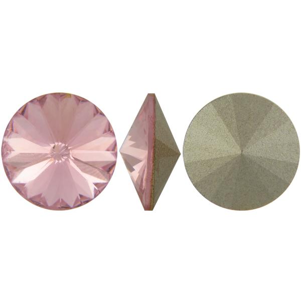 Swarovski Elements, Rivoli 1122 - Light Rose, 10mm 1 buc
