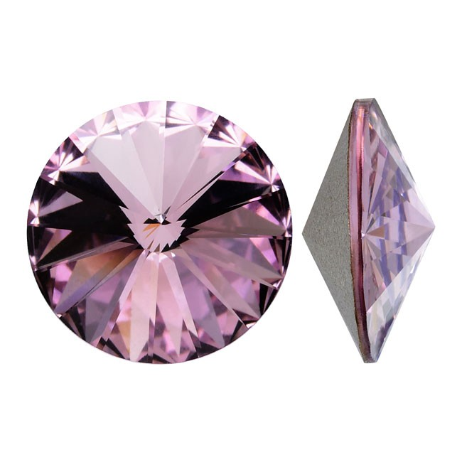Swarovski Elements, Rivoli 1122 - Light Amethyst, 12mm 1 buc