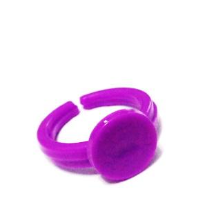 Baza inel, plastic, violet, pentru copii, interior 14mm 1 buc