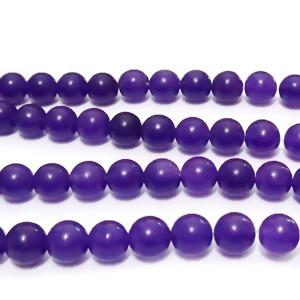 Jad violet inchis, translucid, 6mm 1 buc