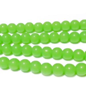 Margele sticla, imitatie jad verde, 6mm 10 buc
