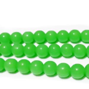 Margele sticla, imitatie jad verde, 8mm 10 buc