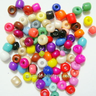 Margele nisip mate multicolore 4mm 20 g