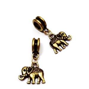 Accesoriu si pandantiv bronz pt. bratari tip Pandora, pandantiv elefant 1 buc