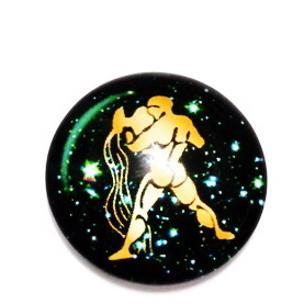 Cabochon sticla zodiac, VARSATOR, 14x4mm  1 buc