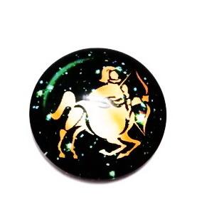 Cabochon sticla zodiac, SAGETATOR, 14x4mm  1 buc