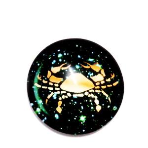 Cabochon sticla zodiac, RAC, 14x4mm  1 buc