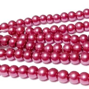 Perle sticla, visininiu deschis, 4mm 10 buc