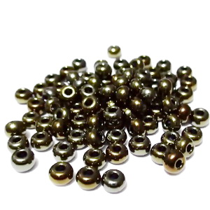 Margele nisip, Rocaille Preciosa 6/0-4mm, kaky, efect AB 20 g